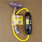 PWCGF320803 - Prime%c2%ae+Shock+Safe%c2%ae+GF320803+Yellow+Jacket+SJTW+GFCI+Triple+Tap+Adapter%2c+12+AWG%2c+3+ft