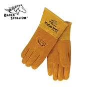 REV39M - Revco+Industries+Black+Stallion%c2%ae+39+Grain+Deerskin+Leather+Welding+Gloves%2c+Tan%2c+Medium%2c+Straight+Thumb
