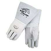 REV750M - Revco+Industries+Black+Stallion%c2%ae+750+Top-Grain+Elkskin+Leather+Palm+and+Back+Welding+Gloves%2c+Pearl%2c+Medium%2c+14+Inch+L%2c+Reinforced+Thumb