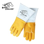 REV850L - Revco+Industries+Black+Stallion%c2%ae+850+Grain+Elkskin+Leather+Palm+and+Cowhide+Back+Welding+Gloves%2c+Gold%2c+Large%2c+14+Inch+L