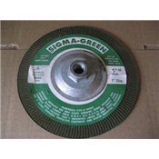 REX730004 - Rex-Cut+Sigma+Green+730004+36+Coarse+Grit+AlO2+Type+27+Depressed+Center+Grinding+Wheel%2c+7+Inch+x+5%2f8-11