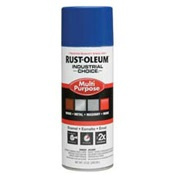 RUS1624830 - Rust-Oleum%c2%ae+Industrial+Choice%c2%ae+1624830+12+oz+Aerosol+Can+Solvent+Based+Multi-Purpose+Alkyd+Enamel+Spray+Paint%2c+Gloss+Safety+Blue