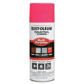 RUS1659830 - Rust-Oleum%c2%ae+Industrial+Choice%c2%ae+1659830+12+oz+Aerosol+Can+Solvent+Based+Multi-Purpose+Alkyd+Enamel+Spray+Paint%2c+Gloss+Fluorescent+Pink