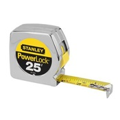 STY33-425 - Stanley%c2%ae+Powerlock%c2%ae+33-425+Chrome+High+Impact+Chrome%2fABS+Plastic+Case+Measuring+Tape%2c+25+ft+x+1+Inch+Blade