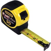 STY33-730 - Stanley%c2%ae+Fatmax%c2%ae+33-730+Yellow%2fBlack+ABS+Plastic+with+Molded+Rubber+Grip+Case+Measuring+Tape%2c+30+ft+x+1-1%2f4+Inch+Blade
