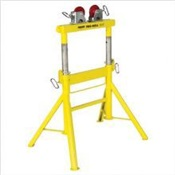 SUM780441 - Sumner+Pro+Roll+780441+Yellow+Pipe+Stand+With+Steel+Wheel%2c+2000+lb+Load+Capacity%2c+1%2f2+-+36+Inch+Pipe+Diameter