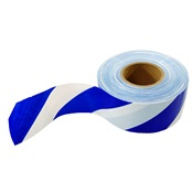 TAPEFLAGBLU%2fWHT - Blue+and+White+Stripe+Flagging+Tape%2c+1-3%2f16%26quot%3b+Wide+2+Mil%2c+300%26%2339%3b