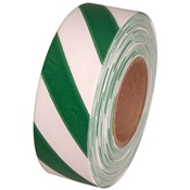 TAPEFLAGGRN%2fWHT - Green+and+White+Stripe+Flagging+Tape%2c+1-3%2f16%26quot%3b+Wide+2+Mil%2c+300%26%2339%3b