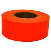 TAPEFLAGO - TapMagic+17022+Poly+Vinyl+Flagging+Tape%2c+Orange%2c+1-3%2f16+Inch+W+x+300+ft+L