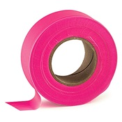 TAPEFLAGPK - Pink+Flagging+Tape%2c+1-3%2f16%26quot%3b+Wide+2+Mil%2c+300%26%2339%3b