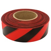 TAPEFLAGRED%2fBLK - Red+and+Black+Stripe+Flagging+Tape%2c+1-3%2f16%26quot%3b+Wide+2+Mil%2c+300%26%2339%3b