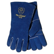 TIL1018 - Tillman%e2%84%a2+1018+Shoulder+Split+Cowhide+Leather+and+Welted+Fingers+Welding+Gloves%2c+Blue%2c+Medium%2c+14+Inch+L%2c+Reinforced+Wing+Thumb