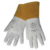 TIL1338L - Tillman+1338+Top-Grain+Goatskin+Leather+Welding+Gloves%2c+White%2c+Large%2c+Reinforced+Thumb