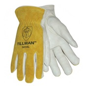 TIL14142X - Tillman%e2%84%a2+1415+Top-Grain+Cowhide+Palm+and+Split+Cowhide+Leather+Back+Drivers+Gloves%2c+Pearl%2fBourbon+Brown%2c+2XL%2c+Keystone+Thumb