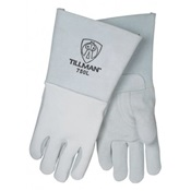 TIL750S - Tillman%e2%84%a2+750+Top-Grain+Elkskin+Palm+and+Back+Welding+Gloves%2c+Pearl%2c+Small%2c+14+Inch+L%2c+Reinforced+Thumb