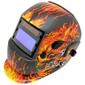 TWE4100-1004 - Tweco+WeldSkill+Skull+and+Fire+Fiber+Auto-Darkening+Welding+Helmet%2c+1.69+Inch+H+x+3.86+Inch+W+Window