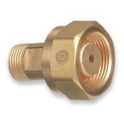 WES15-2 - Western%c2%ae+15-2+Brass+Acetylene+Regulator+Nut%2c+CGA%3a+510%2c+0.88-14+NGO+LH+Male