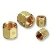 WES8 - Western%c2%ae+8+Brass+Fuel+Hexagonal+Hose+Nut%2c+CGA%3a+023%2c+9%2f16-18+LH+Female
