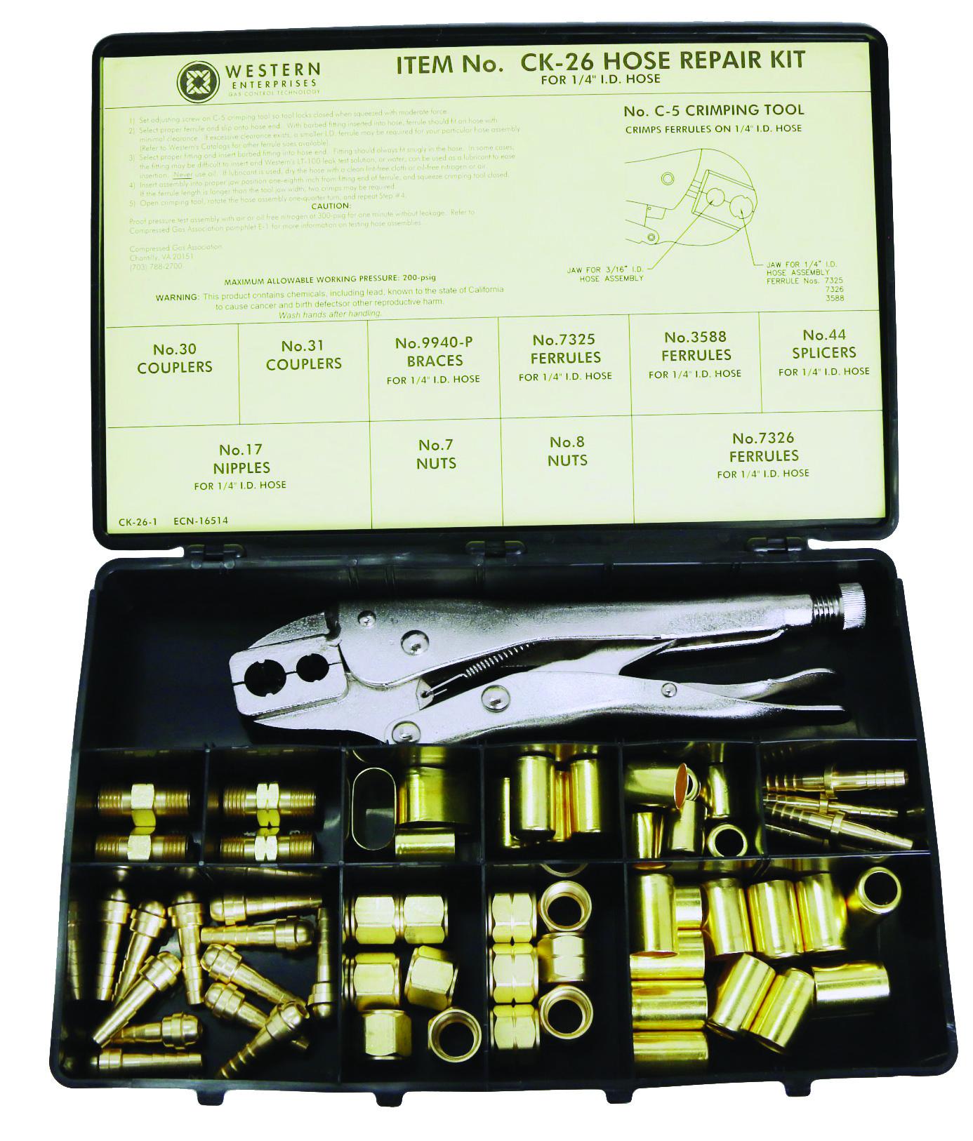Ck Tools: Western Ck-26 Hose Repair Kit With C-5 Hand Grip Crimping