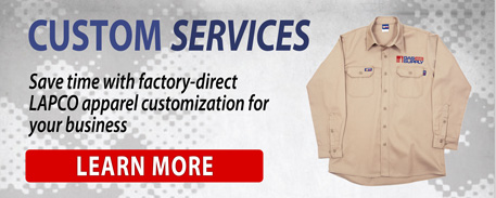 Save time with factory-direct LAPCO apparel customization for your business