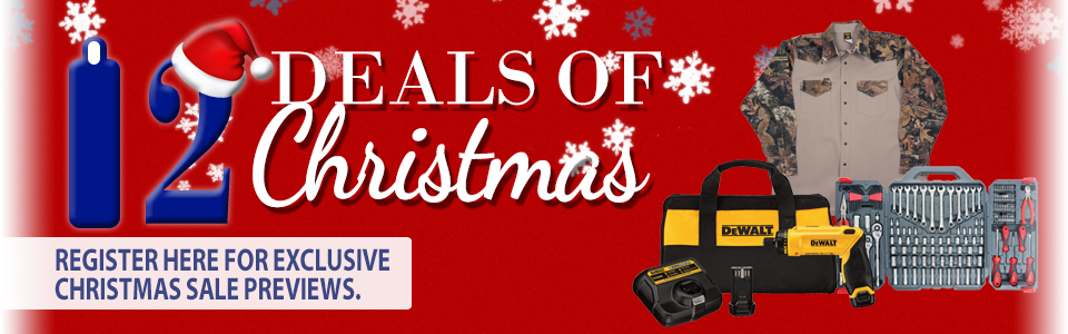 Checkout our 12 deals of Christmas.