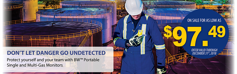 Protect yourself and your team with BW Portable Single and Multi-Gas Monitors.