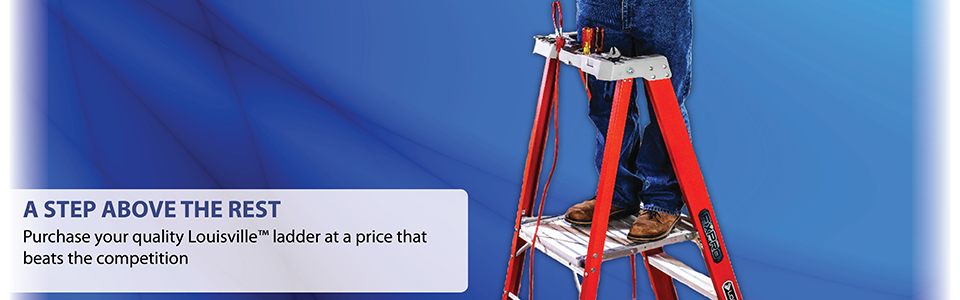 Purchase your quality Lousiville ladder at a price that beats the competition.