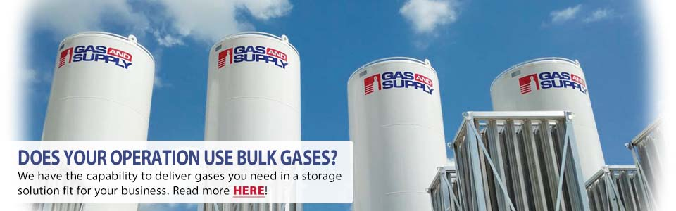 Does your operation use bulk gas? We have the capability to deliver gasses you need  in a storage solution fit for your business. Read more here!